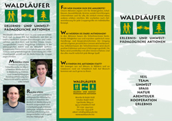 Waldläufer - Erlebnis- und Umweltpädagogische Aktionen - Schwäbisch Hall - Flyer Waldläufer